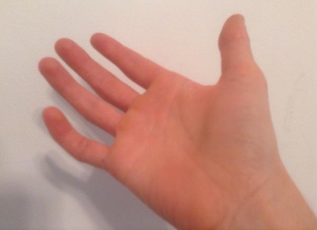 touching hand