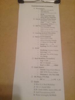 Acute Checklist Pic